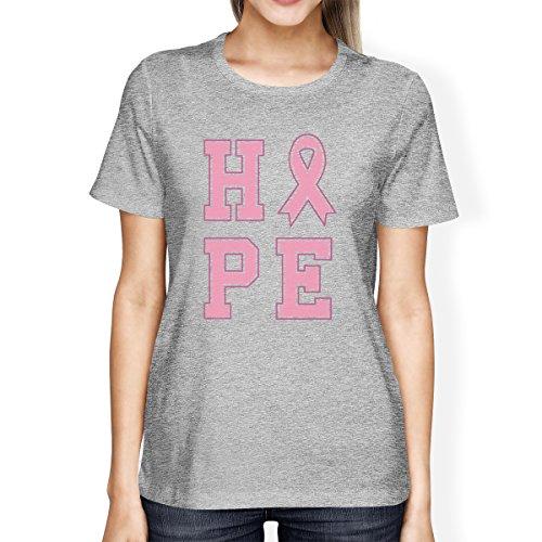 Printing para Camiseta o solo tama 365 manga mujer Ribbon de de corta un Hope 4T7x1awdq6
