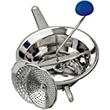 O.M.A.C. Passatutto function manual stainless steel 18/10 with interchangeable towels and three feet