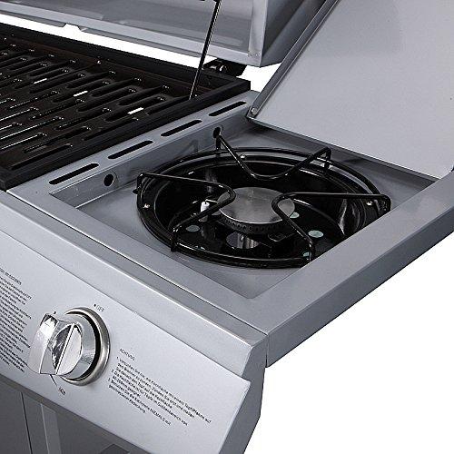 TAINO Gasgrill BBQ Grillwagen 6 Edelstahl-Brenner 1 Seitenkocher*