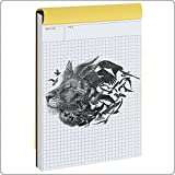 quad grid notebook - Graph Paper,Notebook ,Quad Ruled Writing Pad, Legal Ruled Pads, Engineering Computation Basics Tablet Quadrille Rule Journal, Perforated A5 Letter Size(5x8inches) 80 Sheets(US Version)