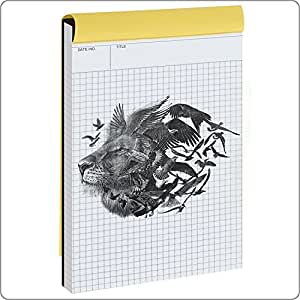 Graph Paper,Notebook ,Quad Ruled Writing Pad, Legal Ruled Pads, Engineering Computation Basics Tablet Quadrille Rule Journal, Perforated A5 Letter Size(5x8inches) 80 Sheets(US Version)