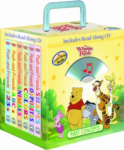 Disney Winnie the Pooh First Concepts 6-book Travel Pack (with audio CD and carrying case)