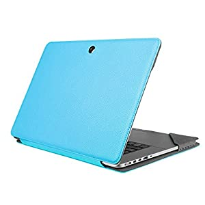 """Fintie MacBook Pro 15 Retina Folio Case Sleeve, Premium PU Leather Protective Book Cover for MacBook Pro 15.4"""" with Retina Display (A1398), [NOT Fit Non-Retina Macbook Pro 15 A1286], Blue"""