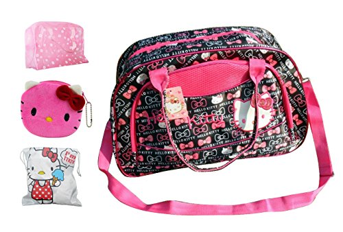 2014 New Hello Kitty Travel Bag Lightest Carry on Holdall Weekend Shoulderbag /Handbag Red (Bowknot)