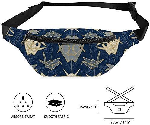 貞子の幸運の鶴 ウエストバッグ ショルダーバッグチェストバッグ ヒップバッグ 多機能 防水 軽量 スポーツアウトドアクロスボディバッグユニセックスピクニック小旅行