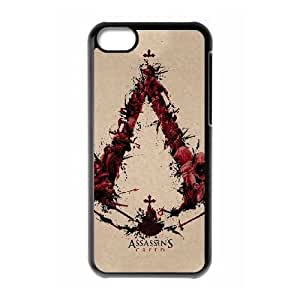 iphone5c phone case Black Assassin's Creed Saga EDA6821465