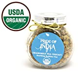 Pride Of India - Organic Chamomile Tea (Decaf), 1oz Gourmet Handmade Jar (Makes 25 Cups)