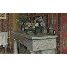 'Edouard Vuillard The Mantelpiece (La Chemine) ' Oil Painting, 8 X 13 Inch / 20 X 33 Cm ,printed On Perfect Effect Canvas ,this Imitations Art DecorativeCanvas Prints Is Perfectly Suitalbe For Nursery Decoration And Home Decoration And Gifts