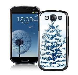 S3 Case,Big Star Snow Christmas Tree Silicone Black Samsung Galaxy S3 Case,S3 I9300 Protective Case