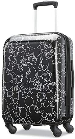 American Tourister Disney Hardside Luggage with Spinner Wheels, Mickey Mouse Scribbler Multi-Face, Carry-On 21-Inch