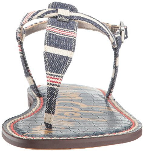 Sandals Sam Stripe Edelman Multi Fashion Americana Gigi Blue Women's HH4WgxrqI