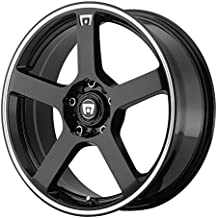 "Motegi Racing MR116 Gloss Black Wheel With Machined Flange (17x7""/5x108, 114.3mm, +40mm offset)"