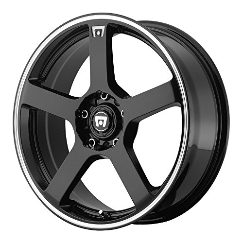 (Motegi Racing MR116 Gloss Black Wheel With Machined Flange (17x7