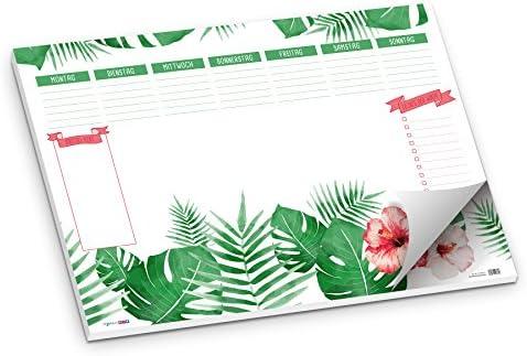 """Schreibunterlage""""Blätter/Dschungel/Pflanzen/Blüte"""" DIN A2, 50 Blatt"""