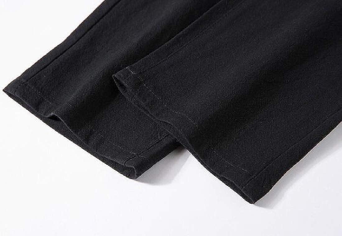 Generic Mens Casual Elastic Waist Drawstring Work Trousers Harem Pants