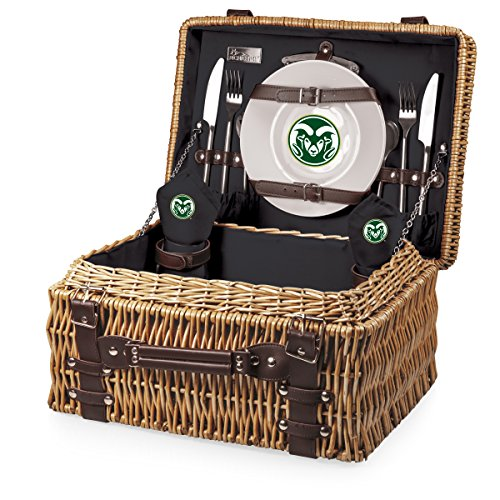 Ncaa Colorado State Rams Glass - NCAA Colorado State Rams Champion Picnic Basket with Deluxe Service for Two, Black
