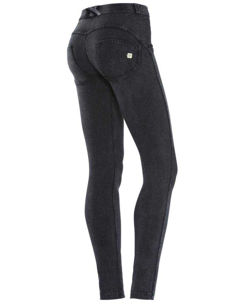 WR. UP® Shaping Effect - Skinny Regular Waist Trousers Black Dyed Mod.  WRUP1RC07E: Amazon.co.uk: Sports & Outdoors