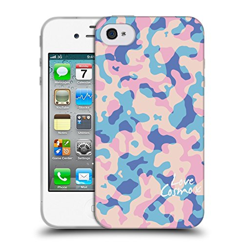 Official Cosmopolitan Pastel Camo Soft Gel Case for Apple iPhone 4 / 4S
