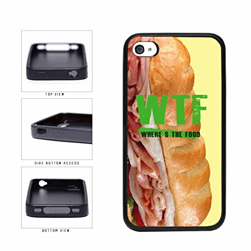 WTF Food Hero On a Roll TPU RUBBER Phone Case Back Cover Apple iPhone 4 4s includes BleuReign(TM) Cloth and Warranty Label