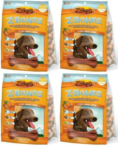 Zukes Z-Bones Edible Dental Chews Regular Carrot Crunch 3lb