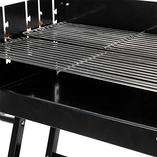 Barbecue Electrique de Table sans Fumée, Grills Electrique d'Extérieur Grill Electrique Professionnelle Hauteur Réglable avec 2 Roues Grande Capacite pour 5 à 8 Personnes