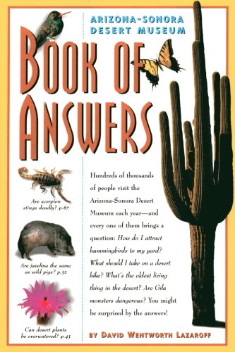 Arizona-Sonora Desert Museum Book of Answers (Wentworth Merchandise compare prices)