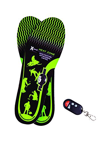 Price comparison product image Flambeau Hot Feet Heated Insoles Kit with Remote Control Switch, Black, Large