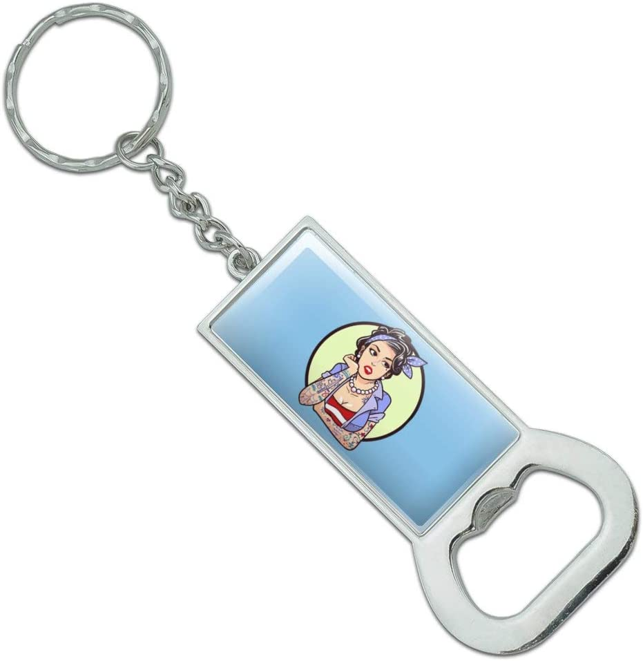 Pin-up Girl Keychain