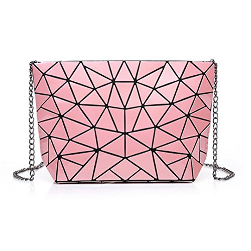 Clutch Womens Meliya Leather Envelope Purse Fashion Pink Holographic Bag Shoulder Laser Handbag 8nwC7qa