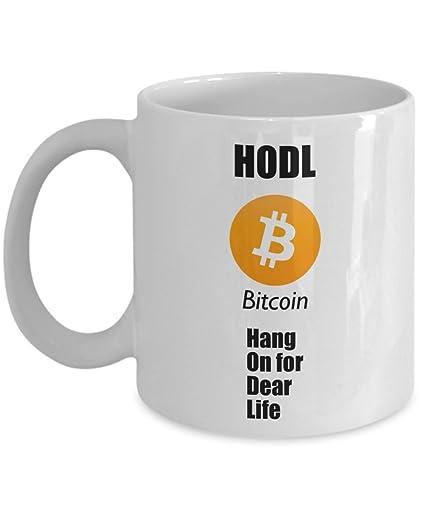 Amazon.com: Just HODL Coffee Mug - Funny BTC Mug - Gag Joke ...