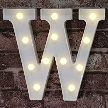 LED Marquee Letter Lights Sign, Light Up Alphabet Letter for Home Party Wedding Decoration W