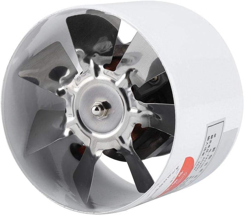 Ventilador de escape montado en la pared Ventilador de pared Placa de flujo Ventilador Baño Cocina Garaje Suministro de ventilación de aire 25 W 220 V