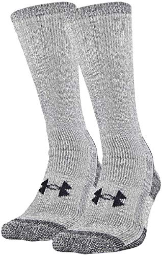 Under Armour Adult ColdGear Boot Socks (2 Pair), Grey, Large