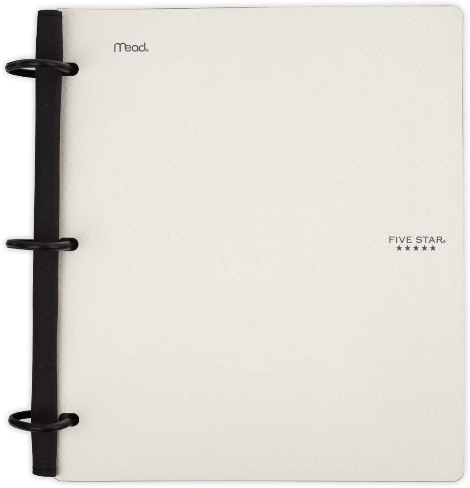 Five Star Flex Hybrid NoteBinder, 1 Inch Binder, Notebook and Binder All-in-One, White (29328AE2)