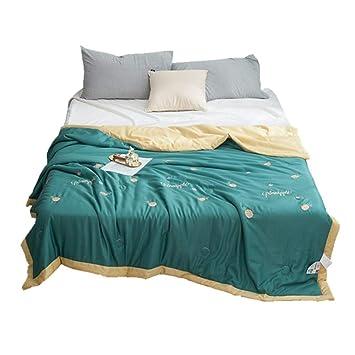 Amazon.com: AMY - Colcha de algodón con estampado de color ...