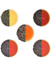 VAHDAM, Oolong Tea Leaves Sampler - 5 TEAS, 25 Servings   5 Delicious Oolong Tea Loose Leaf   100% Natural Detox Tea   Brew as Hot or Iced Tea   Oolong Tea Pack