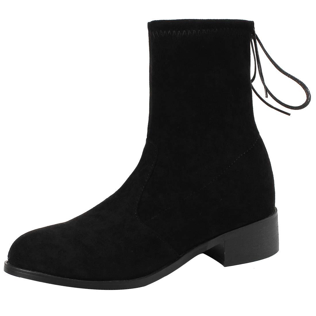 Jushee Juinstr Womens Juinstr Jushee 3.5 cm Low-Heel Ankle Pull-on Suede Boots B07H7ZFP86 Boots d5e3bf