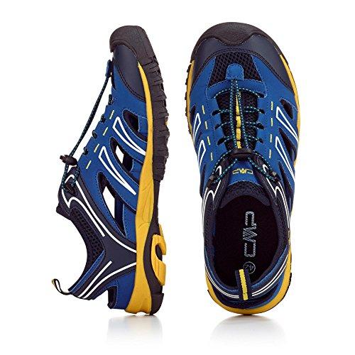 CMP - Zapatillas de senderismo de Material Sintético para hombre gris azul y amarillo j7UPpH1MGl