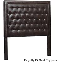 Leffler Home 11000-11-19-01 Royalty Bi cast Espresso Eden Upholstered Headboard, Queen, Dark Brown