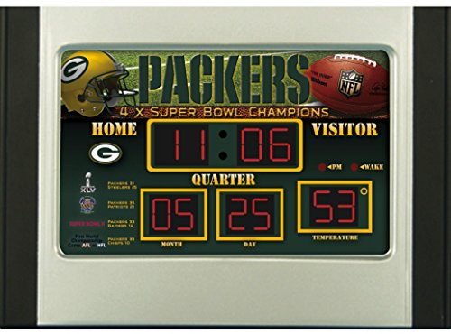 Green Bay Packers Alarm Clock Scoreboard (Clock Neon Awesome)