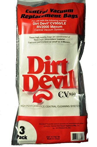 Dirt Devil CV950 3 Layer Micron Central Vacuum Cleaner Bags