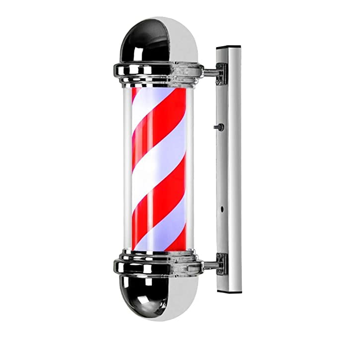 KFMJF LED Poste De Barbero Barber Pole,Peluquería Ligero Salón ...