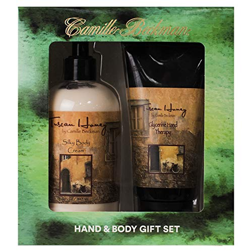 - Camille Beckman Hand and Body Duet Set, Silky Body and Glycerine Hand Cream, Tuscan Honey