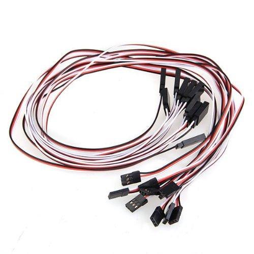 10pcs 500mm câble rallonge extension pour servo récepteur héli RC