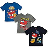 Super Wings Boys' Toddler 3 PC Pack SS