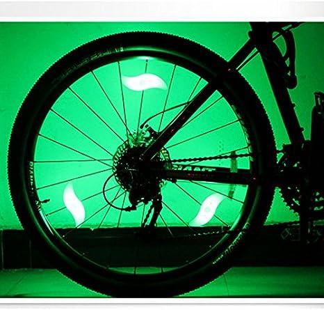 Luces para rueda de bicicleta, luces LED para radios de bicicleta ...