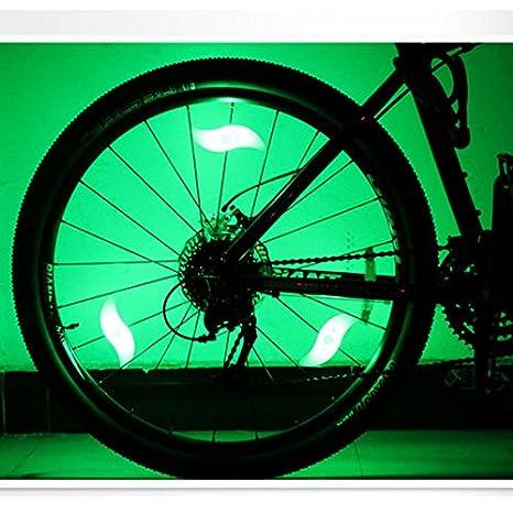 Luces para rueda de bicicleta, luces LED para radios de bicicleta MTB, accesorios para
