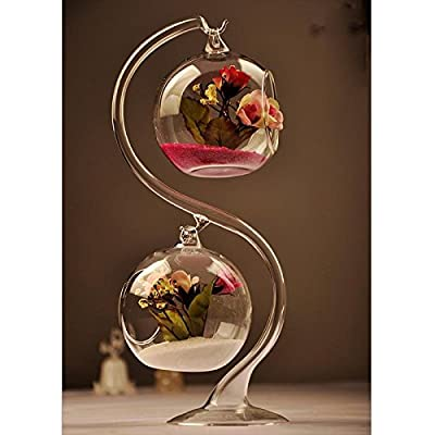 GALLOPJOY Perfect High Quality Dazzle Beautiful Hanging Decoration Bottles Ball Double Flower Vase