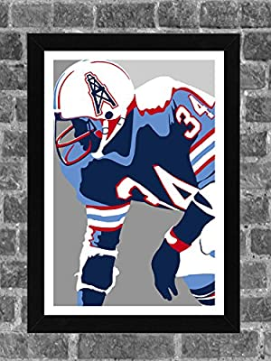 Houston Oilers Earl Campbell Portrait Sports Print Art 11x17