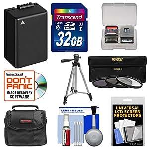 Essentials Bundle for Panasonic Lumix DMC-FZ70 Digital Camera with 32GB Card + Case + DMW-BMB9 Battery + Tripod + 3 UV/ND8/CPL Filters + Accessory Kit